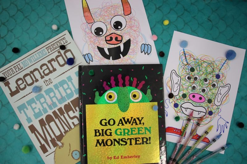Scribble monster craft examples and monster picture books